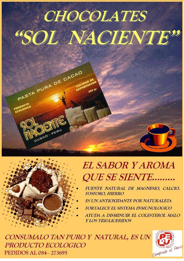 Afiche Fábrica de Chocolates Sol Naciente